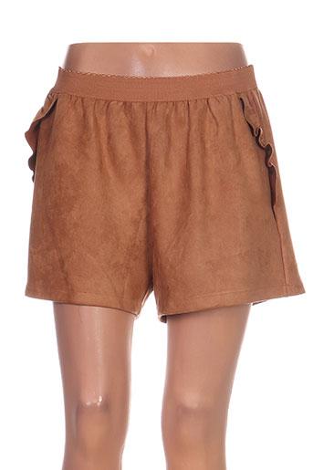 y'coo shorts / bermudas femme de couleur marron