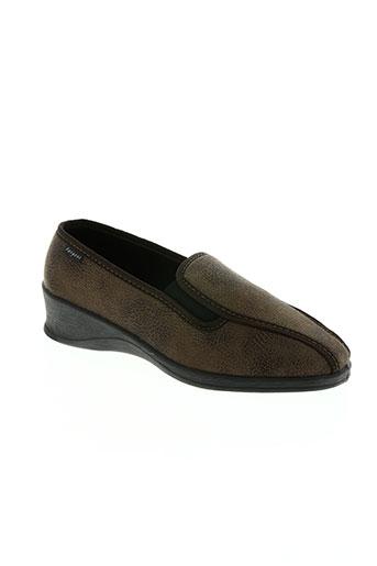 fargeot chaussures femme de couleur marron