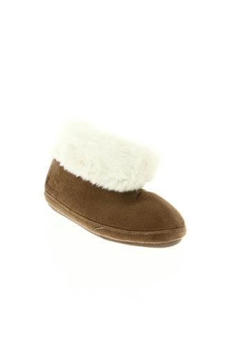 isotoner chaussures fille de couleur marron