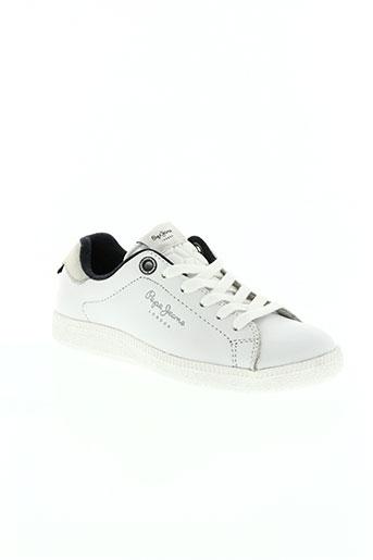 pepe jeans chaussures garçon de couleur blanc