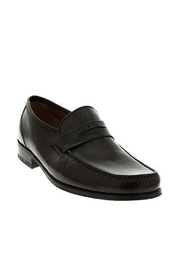 christian pellet chaussures homme de couleur marron