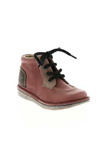 kickers chaussures garçon de couleur rose