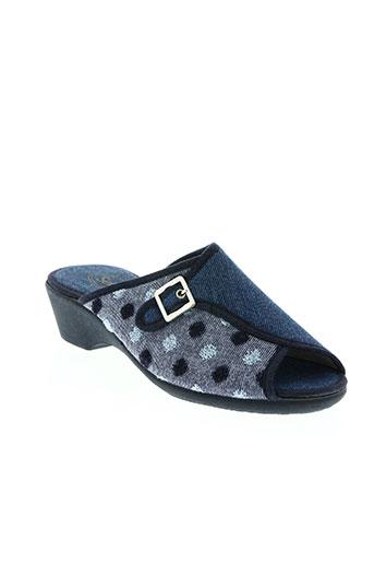 semelflex chaussures femme de couleur bleu