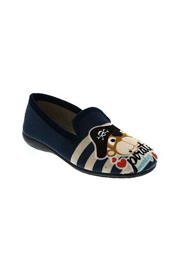la vague chaussures garçon de couleur bleu
