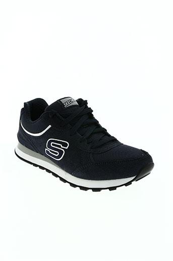 skechers chaussures homme de couleur bleu
