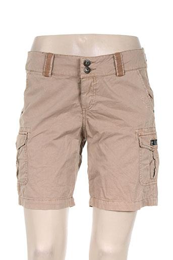 ddp shorts / bermudas femme de couleur marron