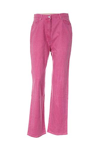 bleu de chine pantalons femme de couleur rose