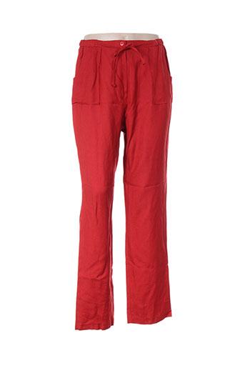 jean delfin pantalons femme de couleur rouge