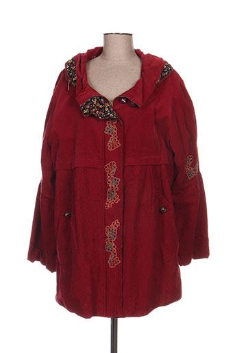 infini moi manteaux femme de couleur rouge