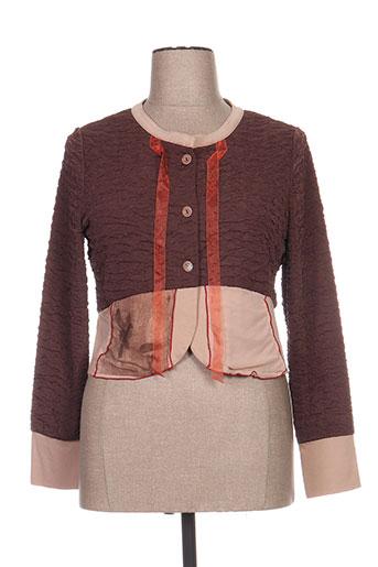 enjoy vestes femme de couleur marron