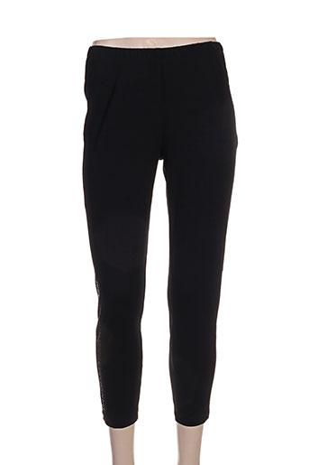 chalou pantalons femme de couleur noir