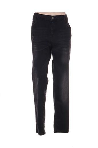 aprico jeans femme de couleur noir
