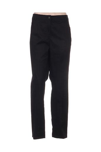 adelina by scheiter pantalons femme de couleur noir