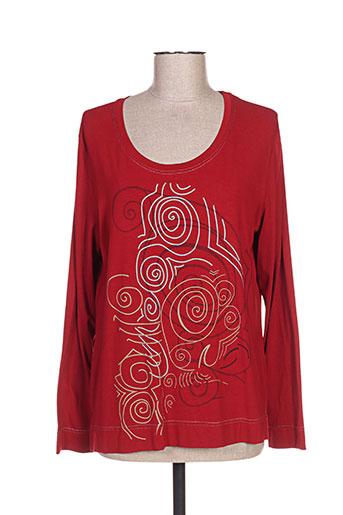 jean gabriel t-shirts femme de couleur rouge