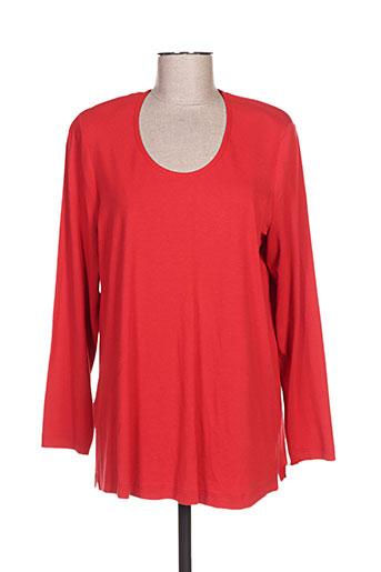 sempre t-shirts femme de couleur rouge