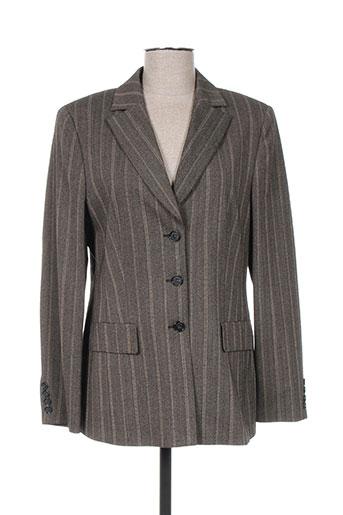 hauber vestes femme de couleur gris