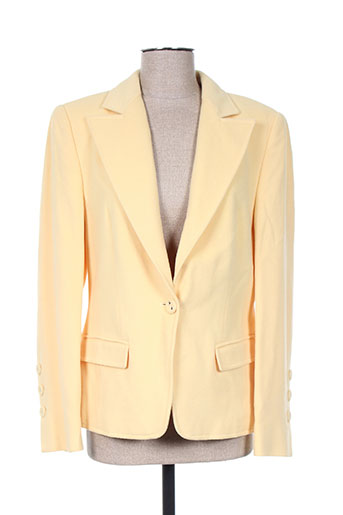 Veste chic / Blazer jaune HAUBER pour femme