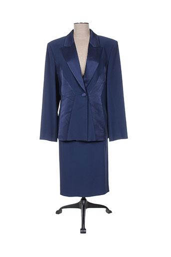 Veste/jupe bleu CONSTANTIN pour femme