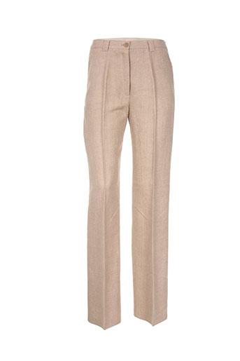 basler pantalons femme de couleur beige