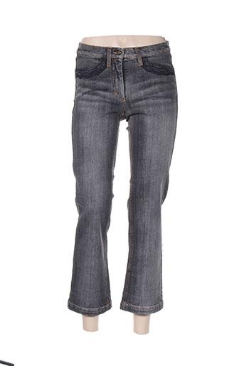 luisa cerano jeans femme de couleur noir