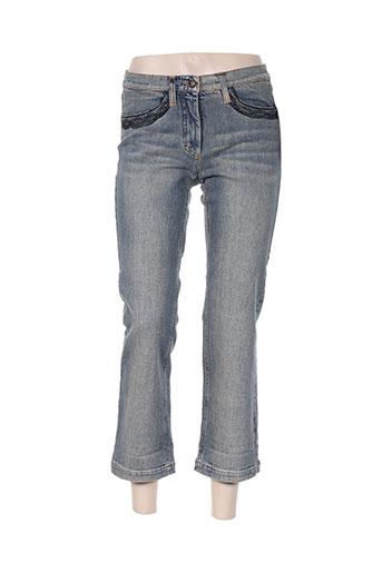 luisa cerano jeans femme de couleur bleu