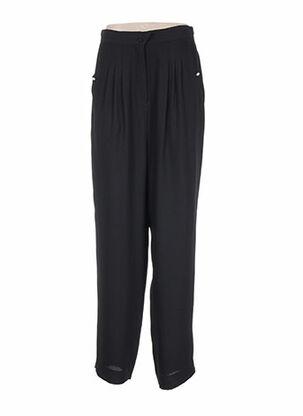 Pantalon chic noir ASABLE pour femme