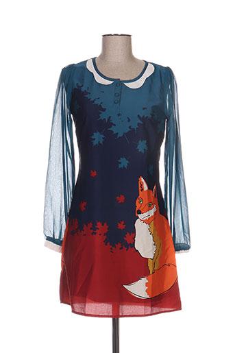 yumi robes femme de couleur bleu
