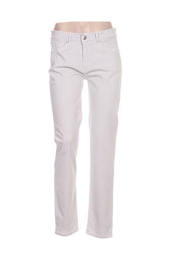 anna montana pantalons femme de couleur blanc