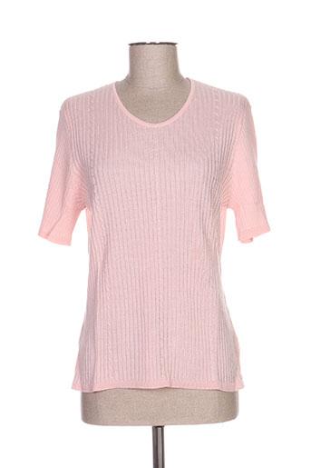 janine pauporté pulls femme de couleur rose