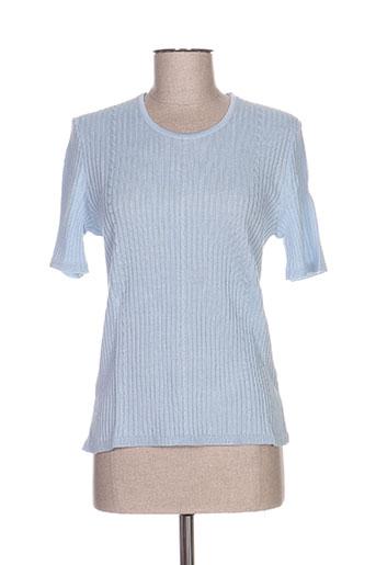 janine pauporté pulls femme de couleur bleu