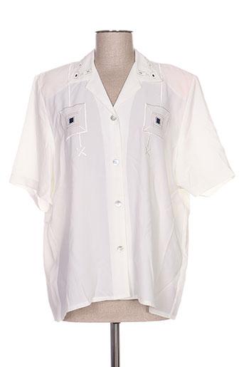 janine pauporté chemises femme de couleur beige