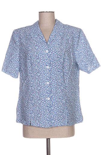 guy dubouis chemises femme de couleur bleu