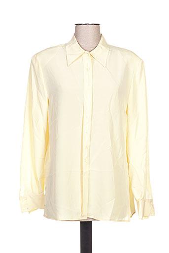 jean biolay chemises femme de couleur jaune
