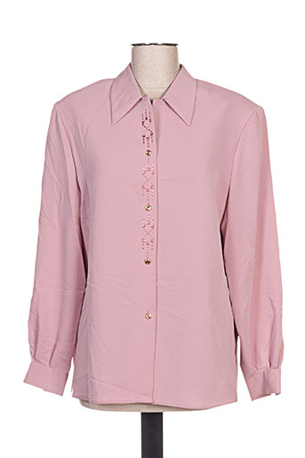 jean biolay chemises femme de couleur rose