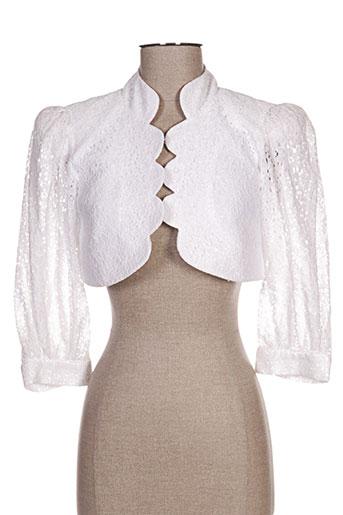 margot fontaine vestes femme de couleur blanc