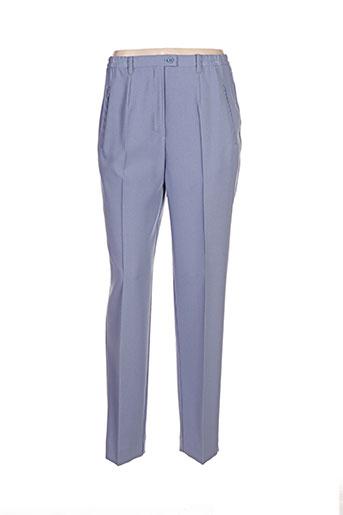 griffon pantalons femme de couleur bleu