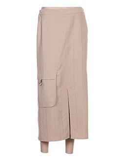 Jupe longue beige TELMAIL pour femme