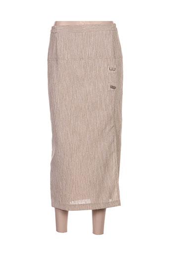 telmail jupes femme de couleur beige