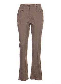Pantalon casual marron TELMAIL pour femme