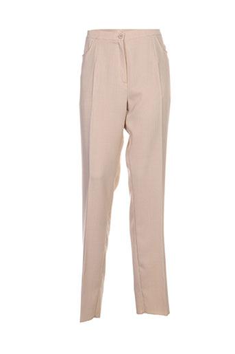 griffon pantalons femme de couleur beige