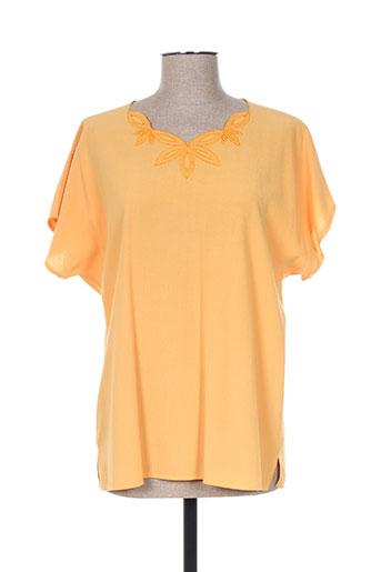 janine pauporté chemises femme de couleur jaune