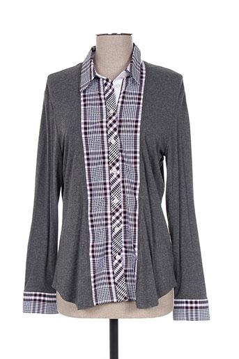 my way chemises femme de couleur gris