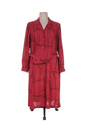 janine pauporté robes femme de couleur rouge