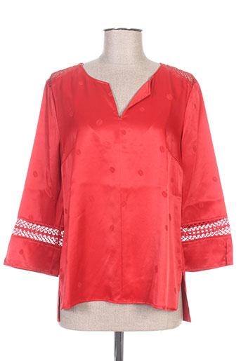 hugo boss chemises femme de couleur rouge
