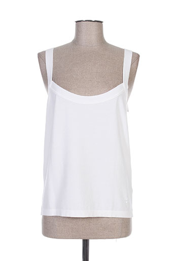 trussardi jeans chemises femme de couleur blanc