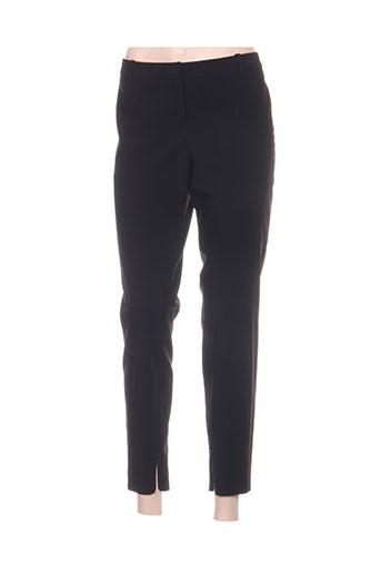 hugo boss pantalons femme de couleur noir