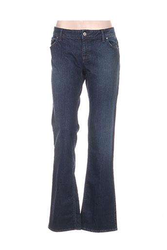 hugo boss jeans femme de couleur bleu