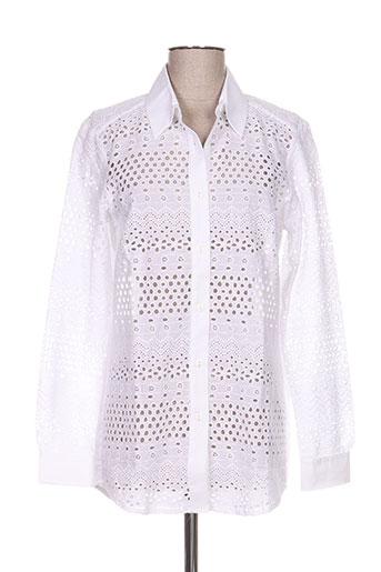 et liza... chemises femme de couleur blanc