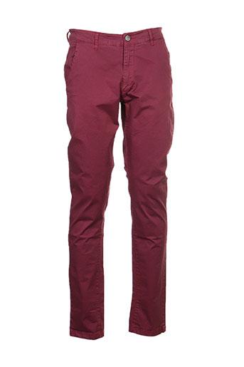 recycled art world pantalons homme de couleur rouge