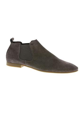 r.q.s chaussures homme de couleur marron